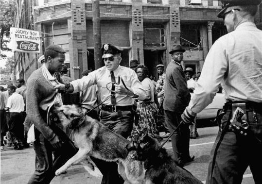 Walter Gadsden, 17, was attacked by police dogs on May 3, 1963, during civil rights demonstrations in Birmingham, Ala.
