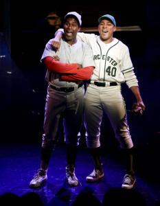 "Alan H. Green, as Willie Mays, and Charl Brown, as Tim Wyatt, help make musical ""Johnny Baseball'' a hit, mostly."