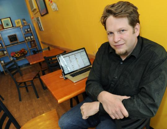 "Chris Brogan's ""office'' is wherever he goes."