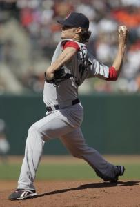Clay Buchholz pitched just one inning last night; he tweaked his knee running the bases in the second and was removed.