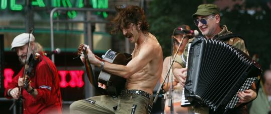Performances by Gogol Bordello at the all-day WFNX Clambake in Boston.