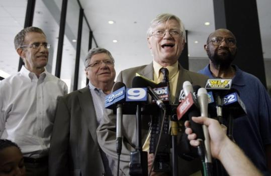 Flint Taylor, lawyer for alleged victims of police torture, spoke to reporters in Chicago after Jon Burge was convicted.