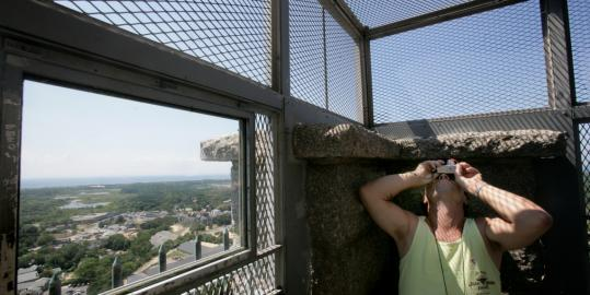 Bryan Schill takes in all the angles atop Provincetown's Pilgrim Monument, which is celebrating its centennial on Aug. 5. At the Wellfleet Oyster Fest, join a shellfisherman on the flats to harvest and shuck your own. Scallops fried to perfection are the lure at Bourne's annual fest.