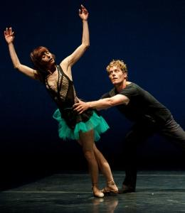 "Céline Cassone and Nathan Madden perform ""Locked Up Laura,'' a duet created for Les Ballets Jazz de Montréal."