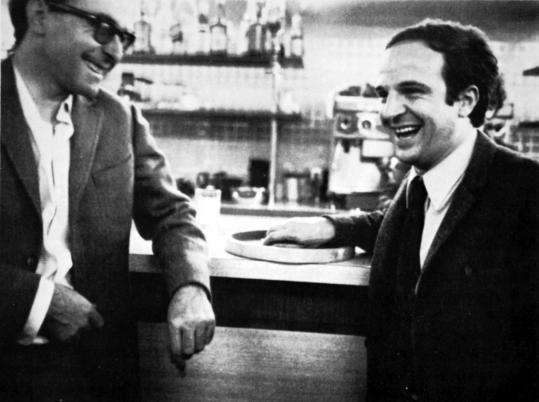 Jen-Luc Godard (in glasses) and Francois Truffaut in 'Two in the Wave.'