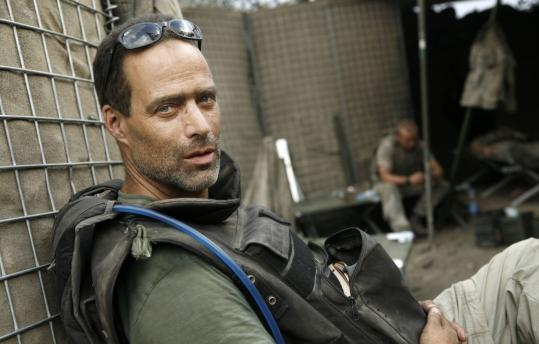 """Sebastian Junger has been covering Afghanistan since 1996, but for his book """"War'' and the film """"Restrepo,'' he was embedded with a US Army combat platoon. """"This is the first time I've felt included in a group — and in a place where inclusion equaled survival,'' he says."""
