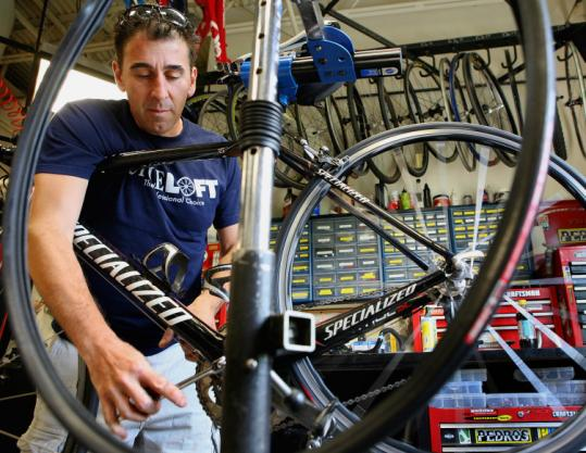 Cycle Loft's Anthony Laskaris has been fixing bikes professionally since 1983.