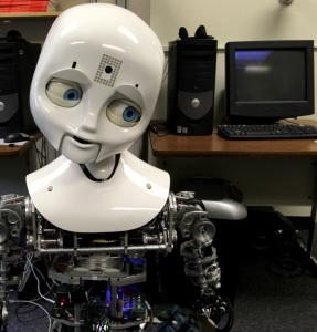 With expressive eyebrows and transfixing blue eyes, a robot named Nexi is helping researchers understand how trust is developed.