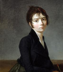 Guillaume Guillon Lethière had made his name as a history painter by the time this girl agreed to pose for him.