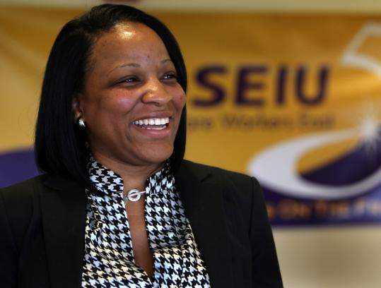Veronica Turner heads Local 1199, the largest health care union in Massachusetts, with 35,000 workers.