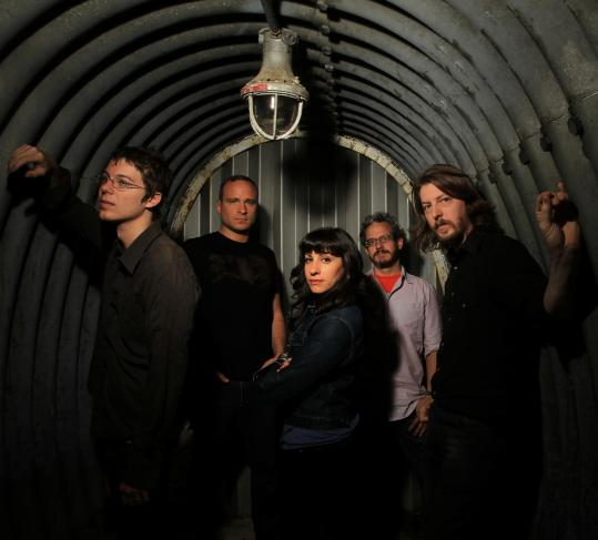 From left: Christopher Johnson, Martin Rex, Nazli Green, Dennis Noble, and Jeremy Lassetter combine to make the ethereal sound of Ghost Box Orchestra.