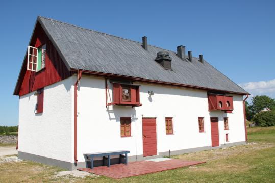 Above: Ingmar Bergman's screening room on Fårö is inside this converted farmhouse.