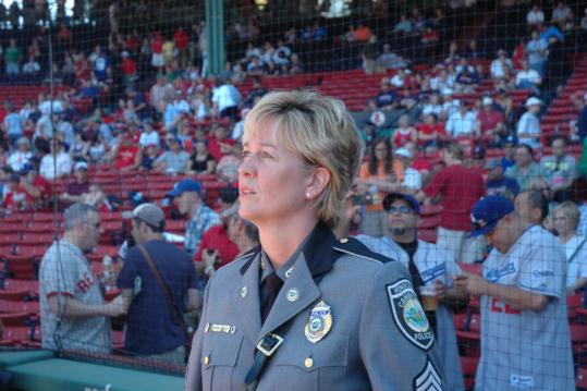 Pauline Carter-Wells sang the national anthem June 19 at Fenway Park.