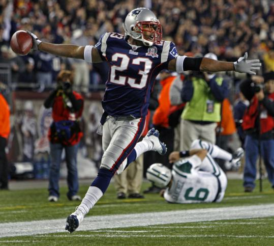 Leigh Bodden led the Patriots with five INTs last season, one of which, thrown by the Jets' Mark Sanchez, he returned for a TD.