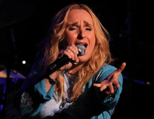 """Melissa Etheridge drew on her new album, """"Fearless Love,'' for half of the 20 songs in her 2 1/2-hour performance Saturday night."""