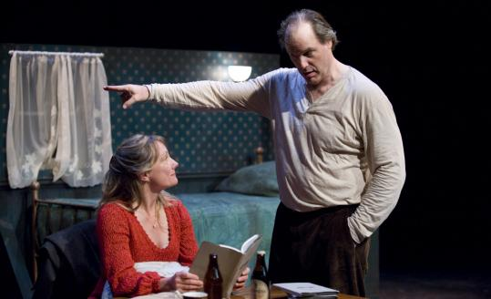 "Kristin Wold and Walton Wilson in Shakespeare & Company's production of ""Sea Marks,'' directed by Daniela Varon."