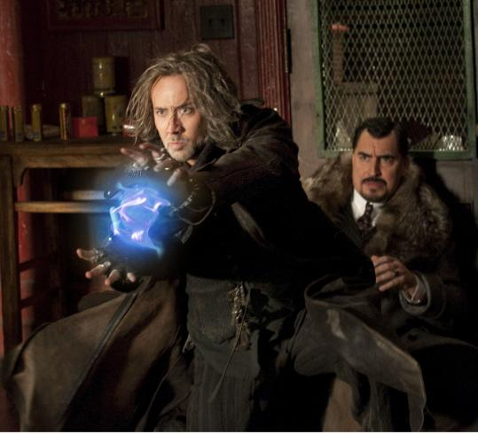 "Nicolas Cage (left) and Alfred Molina in the family action-adventure ""The Sorcerer's Apprentice.''"