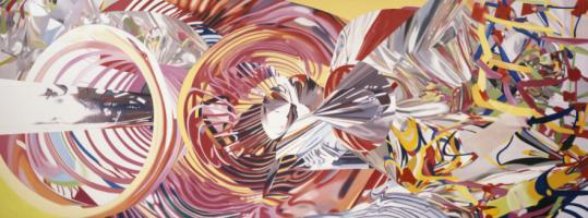 """The Stowaway Peers Out at the Speed of Light,'' one of the large paintings by James Rosenquist."