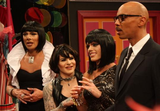 "From left: Raven, Nina Flowers, Morgan McMichaels, and RuPaul in ""RuPaul's Drag U.''"