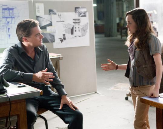 "Leonardo DiCaprio and Ellen Page star in Christopher Nolan's ""Inception.''"