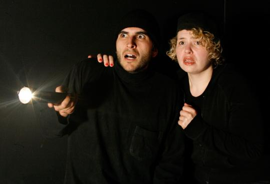"""Mason Sand and Nicole Prefontaine in """"Half Handsome and Regrettable,'' Marcus Gardley's reimagining of """"Hansel and Gretel.''"""