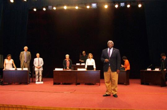 Boston District Court Judge Edward Redd (above) at a 2007 mock trial in China.