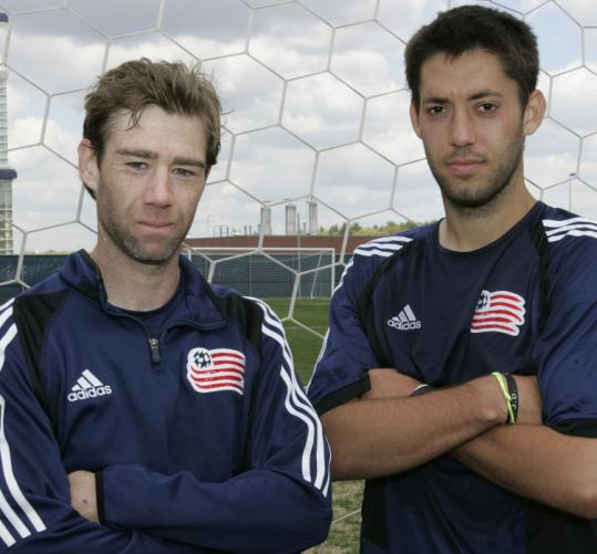 Steve Ralston (left) teamed with Clint Dempsey during the 2005 season on the Revolution and the US National team.
