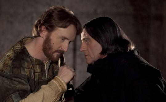 "Tony Curran (left) and Ian McShane in ""The Pillars of the Earth.''"