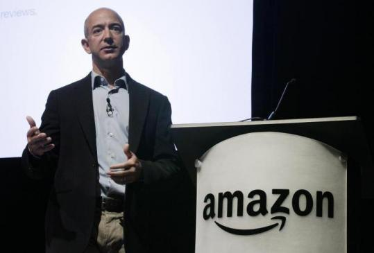 Amazon.com chief Jeff Bezos said rapid growth in Kindle sales, as well as other electronics, helped boost revenue.