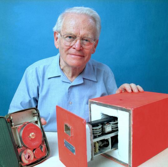 David Warren with his flight data recorder in an image from Australia's Defense Department.