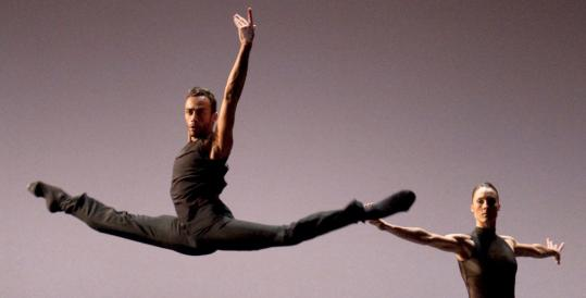 """Rubinald Pronk and Drew Jacoby in """"One'' at Jacob's Pillow Dance Festival in Becket."""