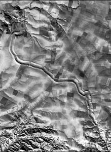 An image from the CIA's CORONA satellite shows a 1969 view of an ancient canal in what is now Iraq.