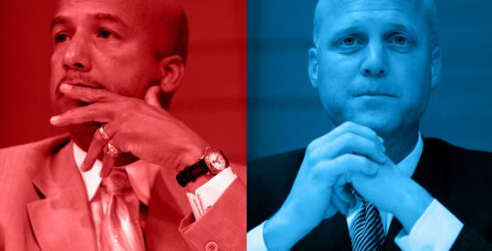 "New Orleans mayoral candidates Ray Nagin and Mitch Landrieu in ""Race.''"