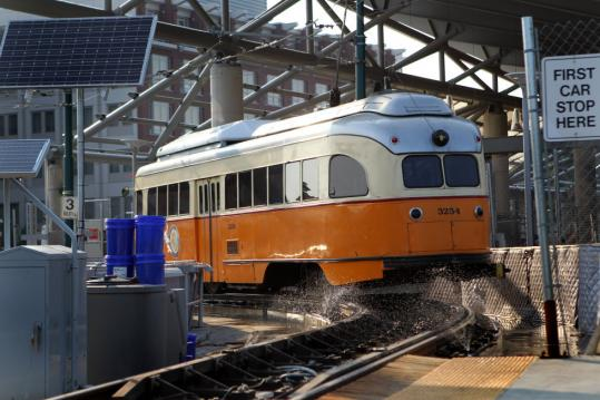 Water, speed restrictions, and insulating quilts have helped MBTA officials dull the noise from the Mattapan Trolley, but they are searching for a permanent solution.