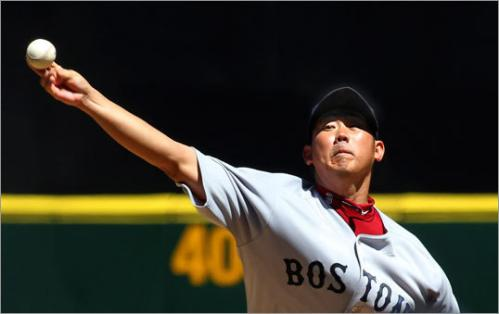 Daisuke Matsuzaka started Sunday's game for the Red Sox and pitched well, allowing one run on four hits in six innings of work.