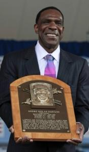 With eight Gold Gloves, there was no chance Andre Dawson was going to drop his plaque.