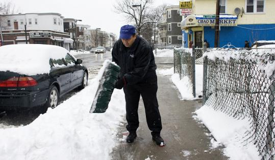 Come next winter, every property owner in the Bay State will have to follow the example of Felix Delvalle of Roslindale and make sure snow and ice are cleared from walkways, regardless of how it got there or how old it is.