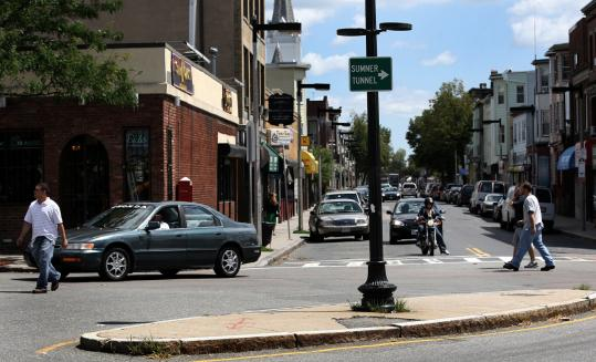 Getting where one wants to go in East Boston's Central Square today is not easy for cars or pedestrians.