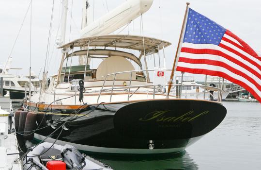 Senator Kerry's $7 million yacht, 'Isabel'.
