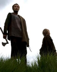 "Mads Mikkelsen (left) plays One-Eye and Maarten Stevenson portrays his ward in ""Valhalla Rising.''"