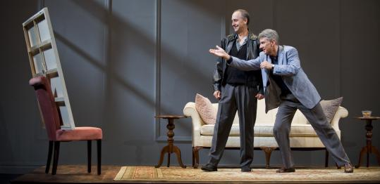 "Kevin Sprague Michael Countryman (left) and David Garrison in the Barrington Stage Company production of ""Art.''"