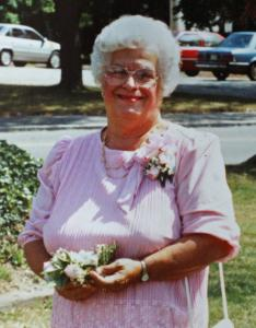 Mary Madeleine Araujo, seen here in a 1992 photo at the wedding of a friend, died at a hospital on her 81st birthday.
