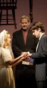 "Brie Larson, Campbell Scott, and Will Rogers in the Williamstown Theatre Festival's production of ""Our Town,'' directed by Nicholas Martin."