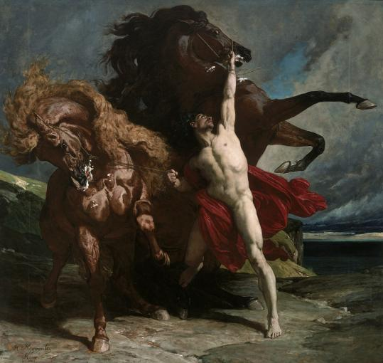 &#8220;Automedon With the Horses of Achilles&#8217;&#8217; (1868) by Henri Regnault (1843-71) at the Museum of Fine Arts.