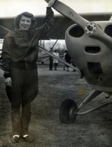 After World War II, Ann E. Ewing received her pilot's license and enjoyed flying small planes as a hobby.