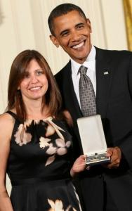 "Susan Retik Ger received the 2010 Citizens Medal from President Obama yesterday. She said Afghan widows are ""still very much in need.''"