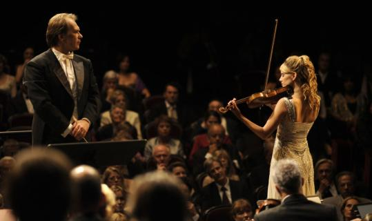 Alexei Guskov (with Melanie Laurent) as a conductor turned janitor turned fake maestro.