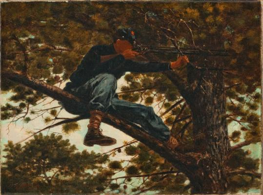 Winslow Homer&#8217;s painting &#8220;Sharpshooter,&#8217;&#8217; on view at the Portland Museum of Art.