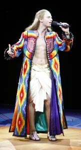"""Anthony Fedorov, who finished fourth on """"American Idol,'' stars in """"Joseph and the Amazing Technicolor Dreamcoat,'' at the North Shore Music Theatre."""