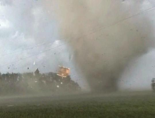 The National Weather Service said storms triggered a number of tornadoes in North Dakota and Minnesota, including one that destroyed a structure in Wilkin County, Minn.